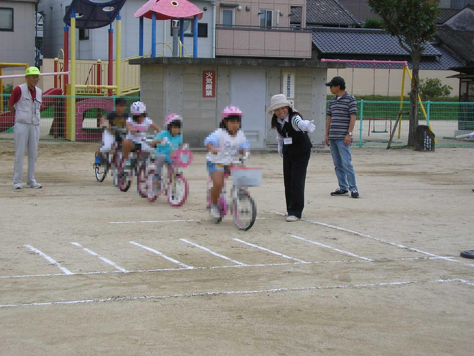 自転車乗り方教室の様子1